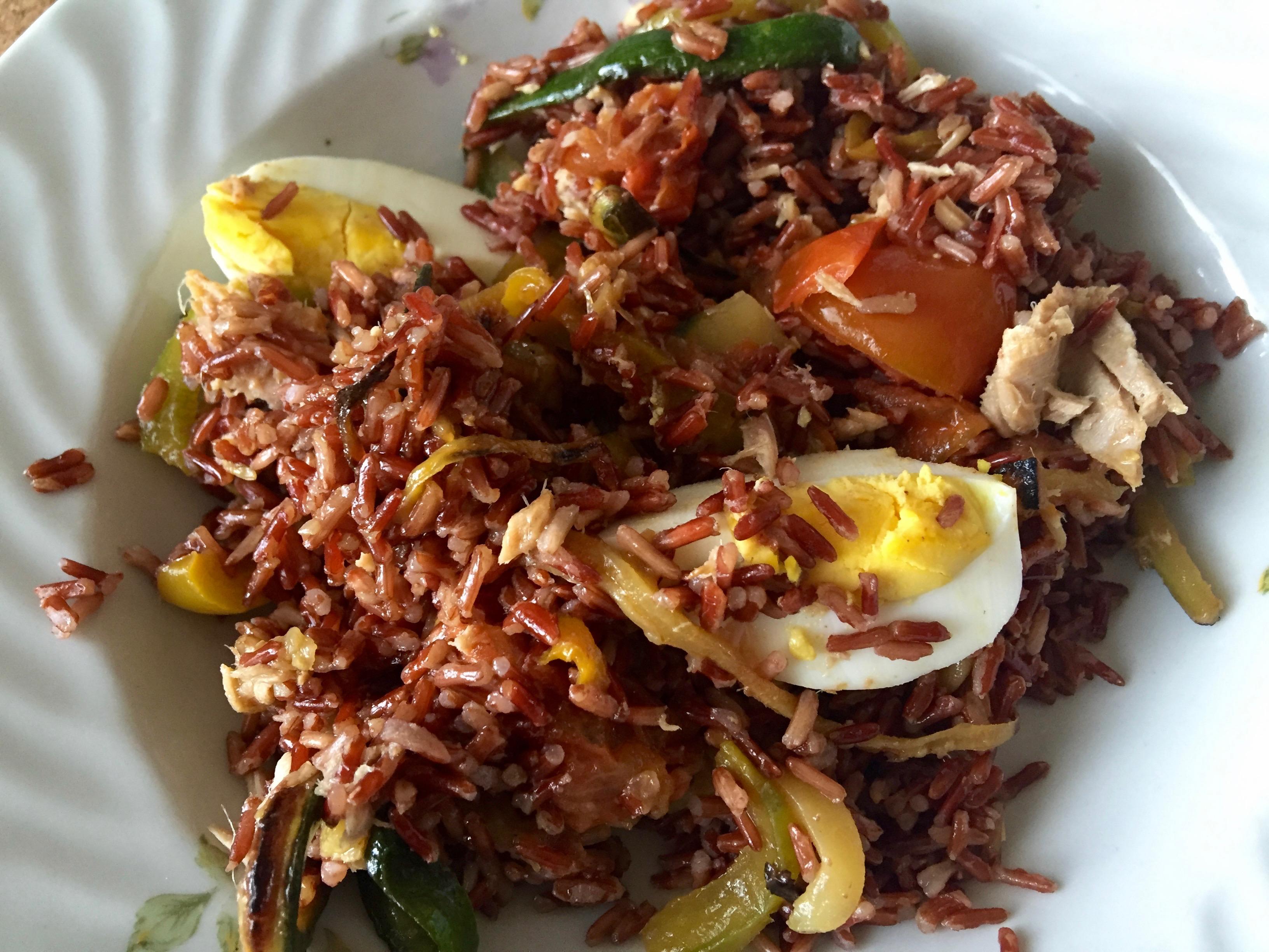 insalata di riso rosso integrale